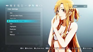 BIRTH OF THICC ASUNA!! SWORD ART ONLINE: Fatal Bullet GAMEPLAY