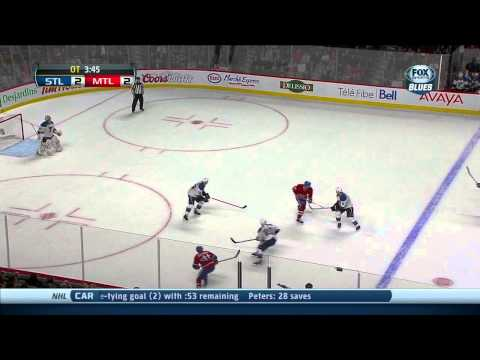 Full OT St. Louis Blues vs Montreal Canadians 11/5/13 NHL Hockey.