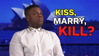 John Boyega Plays Kiss, Marry, Kill