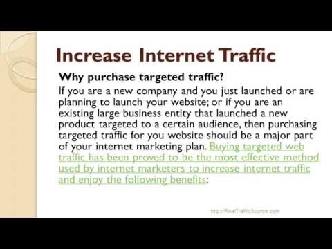 Increase Internet Traffic With RealTrafficSource.com