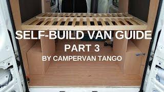 CAMPERVAN BUILD: Self build van guide - part 3, Ply Lining, Lining Carpet, Bed Construction