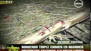 Huánuco: Mujer es violada y asesinada junto a sus dos hijos