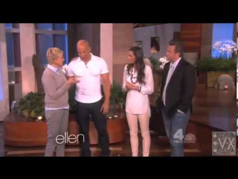 Vin Diesel on the Ellen Show April 2013