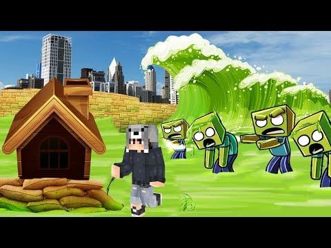 ZOMBİ'li TUSUNAMİ VS EV #13 - Minecraft