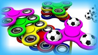 Learn Сolors With 3D Fidget Spinner and Soccer Balls.  Twist Spinners for Children Toddler. 0 to 3.