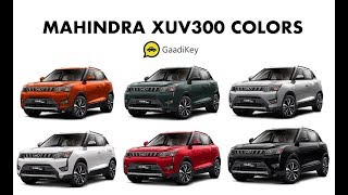 Mahindra XUV 300 | Colors | Color Comparison | Which One To Buy?