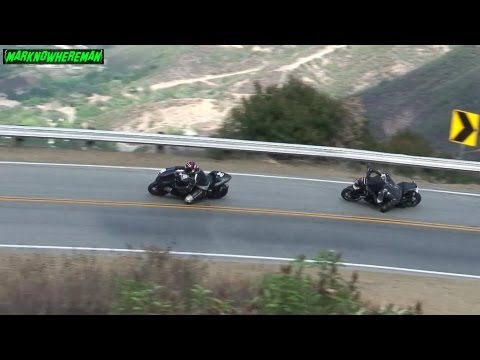 Knee Draggers! Kawasaki NINJA ZX10R & Z1000 attacking the Twisty!