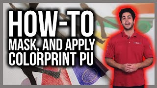 How to mask and apply ColorPrint PU print and cut material on T-shirts
