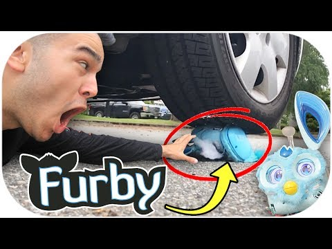 FURBY VS CAR! (IT SURVIVED) CRAZY FURBY CONNECT TOY REVIEW!