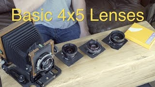 Basic 4x5 Lenses: Large Format