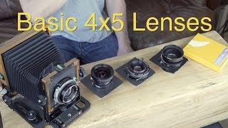 Basic 4x5 Lenses: Large Format