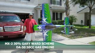 EG Aircraft MX-2 RC 3D Plane - DA50cc Gas Engine - Maiden Flight Day 7-24-2011