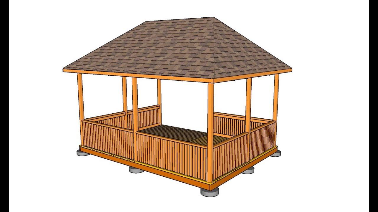 garage rec room ideas - Rectangular Gazebo Plans