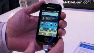 Samsung Galaxy Gio live video demo