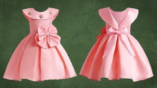 Diy Designer Box Pleated Baby Frock Cutting & Stitching Full Tutorial