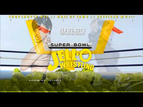 SUPER BOWL 47 JELLO WRESTLING PARTY BIKINI BOTTOMS DROP FEB.03 ANIMATED FLYER