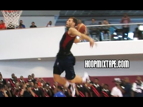 Blake Griffin INSANE 1 Hander Off The Wall At USA Basketball Practice!