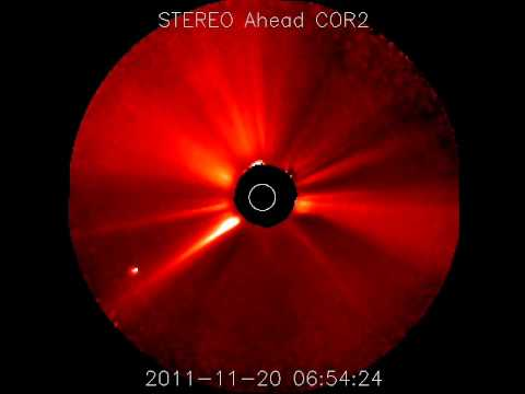 Filament Eruption Causing CME (Nov 20, 2011)