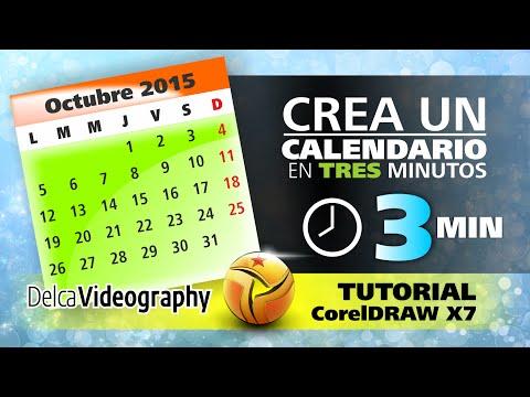 TUTORIAL CorelDRAW X7: APRENDE FÁCIL A CREAR UN CALENDARIO EN 3 MINUTOS USANDO MACROS