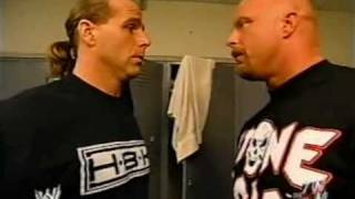 HBK gives Stone Cold Steve Austin some information RAW  3-17-2003