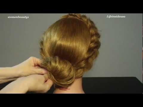 ( Косички на длинные волосы ) / Прическа :