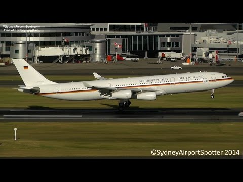 RARE - German Air Force - Airbus A340-300 - Landing at Sydney Airport SYD/YSSY