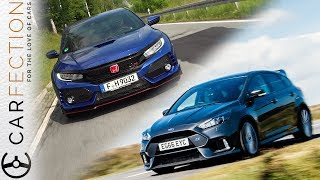 2018 Honda Civic Type R Vs Ford Focus RS - Carfection