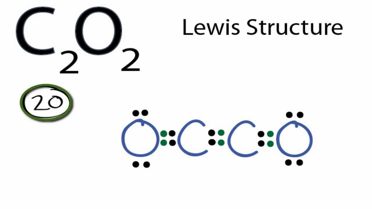 c2o2 lewis structure  how to draw the lewis structure for