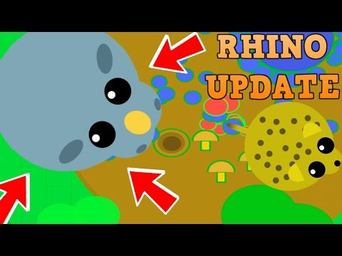 NEW MOPE.IO RHINO!! // CRAZY CHARGING ABILITY // Mope.io Update