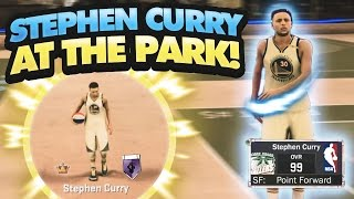 STEPHEN CURRY THE DRIBBLE GOD AT THE PARK! 99+ OVERALL 3 POINTER + CRAZY ANKLE BREAKERS! • NBA 2K17