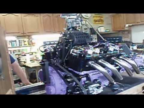 Custom Supercharged Honda Motorcycle V8 Engine