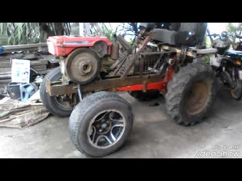 D.I.Y. รถไถเดินตามทำกระดองครอบเป็นรถไถนั่งขับ