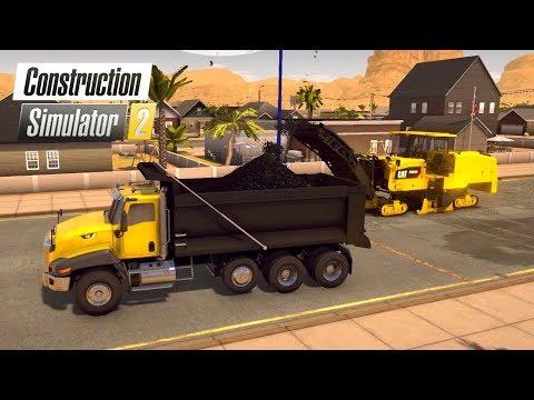 Construction Simulator 2 US | #5 A Pavimentar Calles | Asfaltadora, Aplanadora y Fresadora