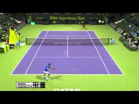 Rafael Nadal Against Peter Gojowczyk ATP Doha 2014 masters 250-Qatar open - Main-SF