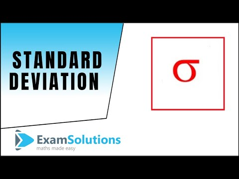 Standard Deviation : What is it and how to work it out : ExamSolutions