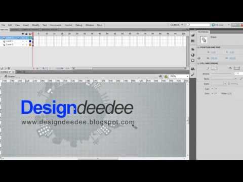 วิธีทำ designdeedee intro ใน flash