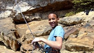 Kai Lightner(13yo) sends Proper Soul 5.14a at the New River Gorge