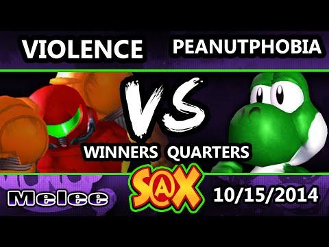 S@X - Violence (Samus) Vs. Peanutphobia (Yoshi) SSBM Winners Quarters - Melee