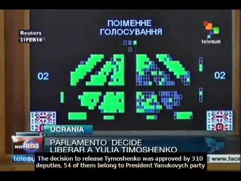 Ukrainian parliament moves to release Yulia Tymoshenko