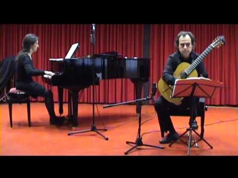 II. Vivacissimo. Fantasia Op.145 para Guitarra y Piano. M. Castelnuovo-Tedesco