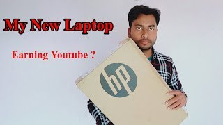 🔥My New Laptop Form Youtube Earning ? HP Notebook - 15-da0077tx