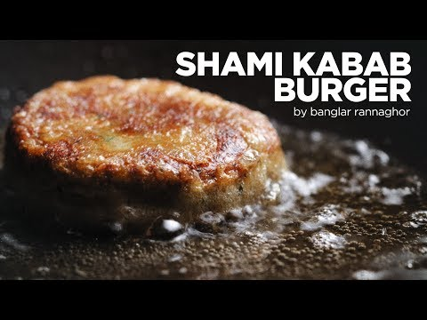 Shami Burger With Homemade Green Chutney