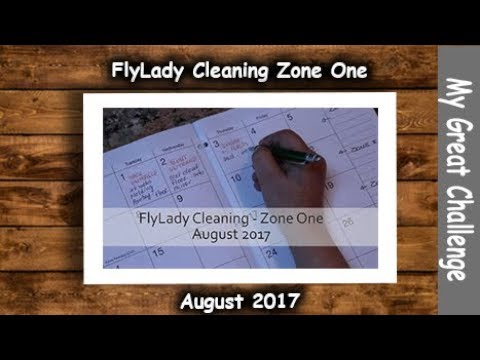 FlyLady Cleaning    Zone One    August 2017