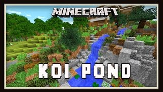 Minecraft: Koi Pond Garden Landscaping Design  (Modern House Tutorial  Ep. 26)