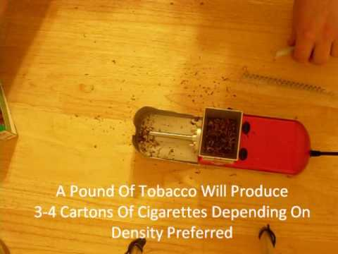 Electric Cigarette Rolling Machine Demo