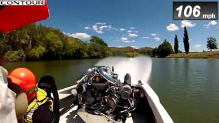 Waterskiing with 135 mph
