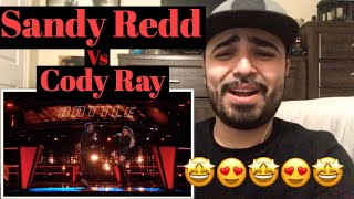 Reaction to SandyRedd Battling Cody Ray Singing Cry To Me
