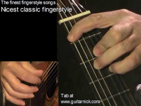 0 Nicest classic fingerstyle song   learn how to play, easy acoustic guitar lesson &amp; tab