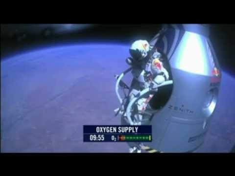 Felix Baumgartner - Red Bull Stratos - Complete Space Jump - GoPro