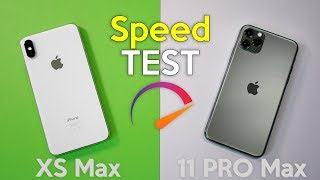 iPhone 11 Pro Max VS iPhone XS Max - SPEED TEST